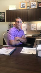 Paul Lundberg sits in office at the Brandon Valley School District. He just completed his 100th day as mayor.