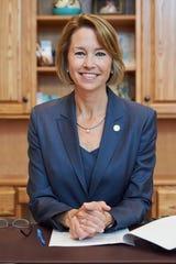 Augustana University president Stephanie Herseth Sandlin is spearheading the school's NCAA Division I exploration.