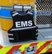 Augusta County Fire & Rescue personnel received eight bullet-resistant vests Wednesday.