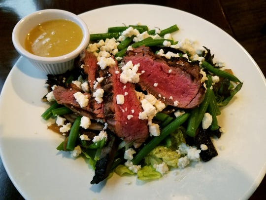 The Steak Salad is a perfectly satisfying meal for those watching their carbs.