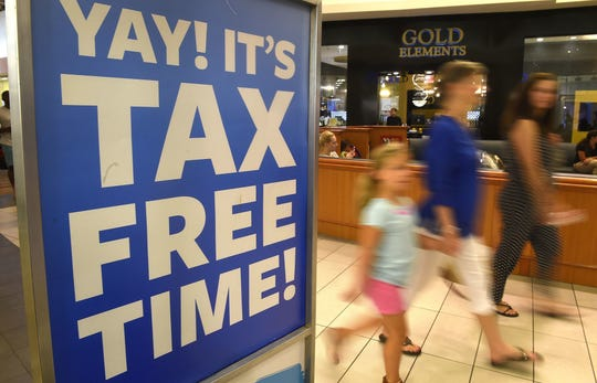 Florida's 2019 back-to-school tax free holiday runs Aug. 2 through Aug. 6.