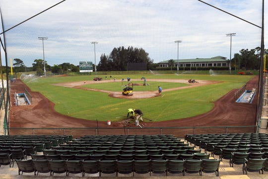 A renovation of Holman Stadium is currently underway at the Jackie Robinson Training Complex in Vero Beach. New seating, a higher outfield fence, rebranding of the scoreboard and a new location for the bullpen behind the left field fence are all part of MLB's $10 million project which also includes updating the complex's motel rooms and building an indoor training facility.