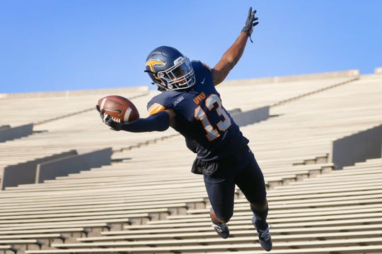 UTEP's defensive back Justin Rogers Wednesday, July 24, at the Sunbowl in El Paso.
