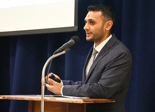 Guatam Patel is the principal partner of a proposed 200-room, $30 million boutique hotel in Three Rivers. The developer insisted that he wants to incorporate community feedback into the hotel's design at a town hall meeting at the Three Rivers Memorial Building on July 24, 2019.