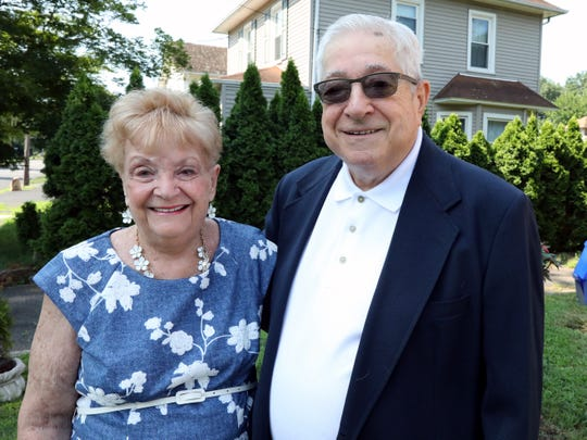 Joan and Tony Carrozza at their Suffern home July 25, 2019. They were married 60 years ago at Patricia Murphy's on Central Avenue in Yonkers.