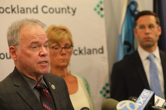 County Executive Ed Day discusses why he is not renewing the state of emergency over the measles in Rockland County during a press conference in New City July 25, 2019.