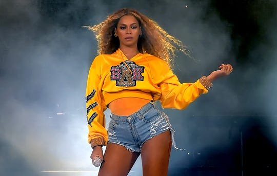 Beyoncé performs during Coachella on April 14, 2018 in Indio, Calif.