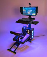 TheEdge Desk Esports Command Center, a new gaming desk coming out in the fall of 2020 aimed at helping prevent esport related injuries.