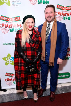 Meghan McCain and her husband, Ben Domenech, arrive at the Ruben and Clay Christmas Show opening night on Dec. 11, 2018. The couple married in 2017.