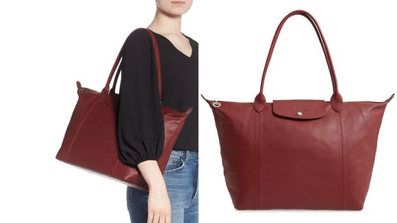 This leather tote is a stunning spin on Longchamp's iconic nylon version.