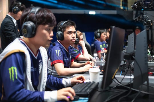 Pro esport athlete, Jake Puchero concentrates on a win at theLCS, League of Legends Championship Series in June 2019.