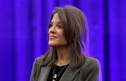 Democratic presidential candidate Marianne Williamson at the 110th NAACP National Convention, Tuesday, July 23, 2019, in Detroit.