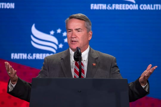 Republican Representative from Georgia Jody Hice speaks to the Faith and Freedom Coalition's 2019 Road To Majority Policy Conference at the Marriott Wardman Park Hotel in Washington, DC, USA, 26 June 2019.
