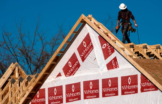 Home construction in Fairfax, Virginia.
