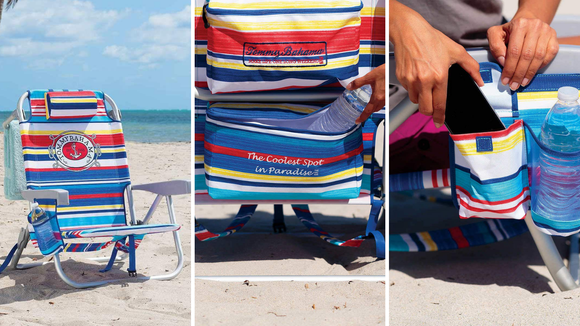 This chair has storage, comfort AND the ability to keep your drinks cold.