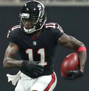 Julio Jones has 10,731 yards receiving in his eight-year NFL career.
