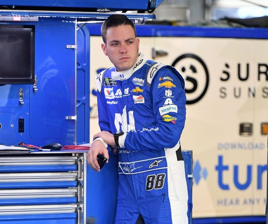 Alex Bowman is ranked 10th in the NASCAR points standings heading into Sunday's race at Pocono Raceway.