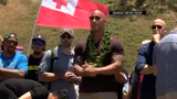 """Dwayne """"The Rock"""" Johnson visits protesters blocking construction of a telescope as the Hawaiian leaders prepare to start talks to resolve the impasse."""