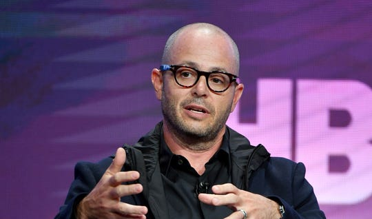 Damon Lindelof of 'Watchmen' speaks during the HBO segment of the Summer 2019 Television Critics Association Press Tour.