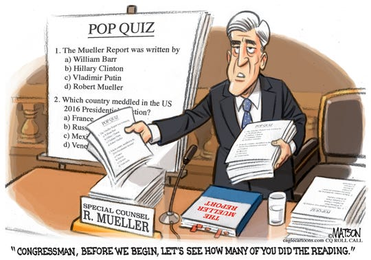 Mueller Report Pop Quiz