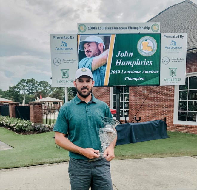John Humphries of Woodworth won the 2019 Louisiana Amateur Golf Championship Sunday and became the ninth golfer to win the tournament multiple times.