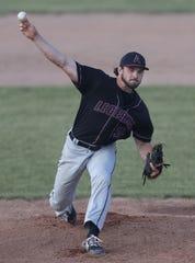 Appleton Legends starting pitcher Grant Ver Voort delivers against the Menasha Macs on Thursday in Appleton.
