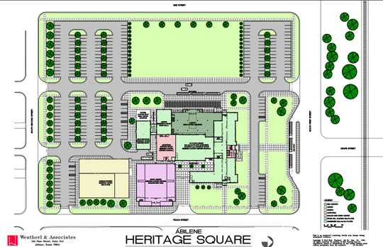 Concept drawing of Abilene Heritage Square.