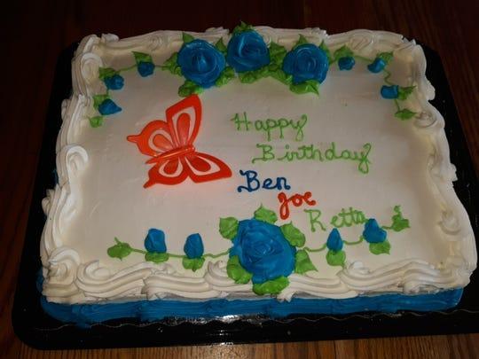 One big cake for three July birthdays.