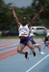 Ijeyikowoicho Onah places second in the women's long jump at 19-4 (5.89m) during the USATF U20 Championships at Ansin Sports Complex.