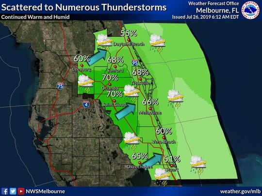 Severe weather expected in Brevard County Friday afternoon and evening.
