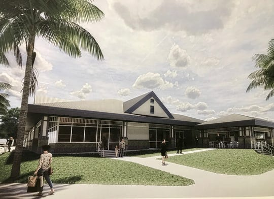 Viera East Community Development District officials displayed this artist's rendering of a future $2.9 million clubhouse at Viera East Golf Club during a July 25 public hearing.