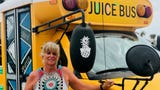Jorgi Kurtz bought a school bus and converted it into a mobile juice bar — Island Squeeze. She wants to provide healthy options on North Padre Island.