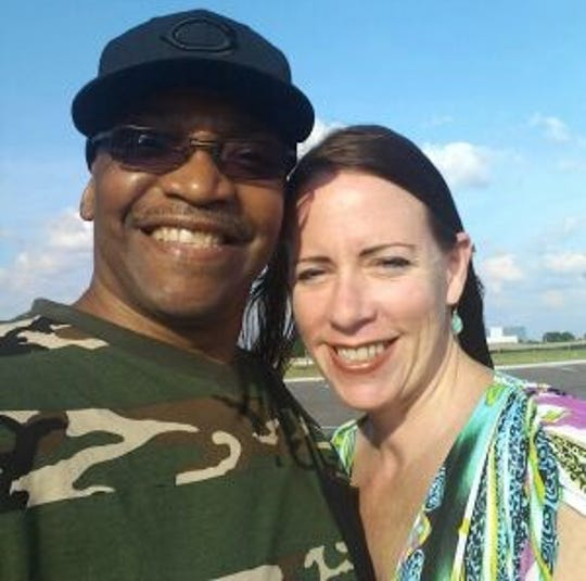 Donnie Johnson and his fiancee, Michelle Martin.