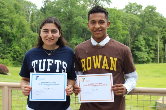 Somerset Hills YMCA awards scholarships to outstanding local students: Arianna Minassian of Basking Ridge and Bryant Then of Bernardsville.