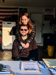 "In March 2018, during the first ""week of action"" door knocking for Zach Wahls' campaign for state senate, his now-fiance Chloe Angyal took time from her day to visit him."