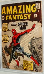 """The 15th issue of the Marvel comic, """"Amazing Fantasy"""" introduced readers to the now-popular character, Spider-Man."""