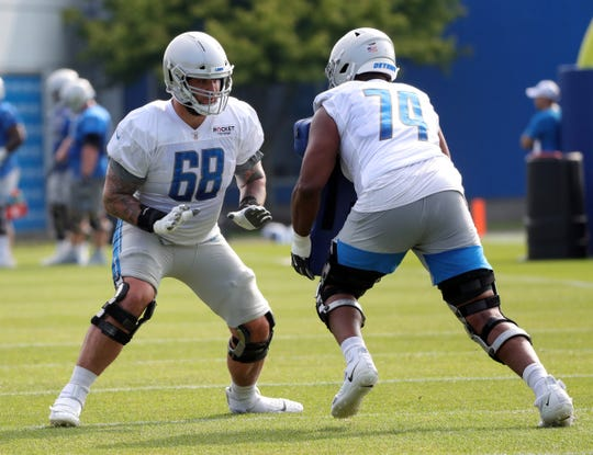 newest 17a44 892df Detroit Lions rookie OL Ryan Pope trying to prove his worth