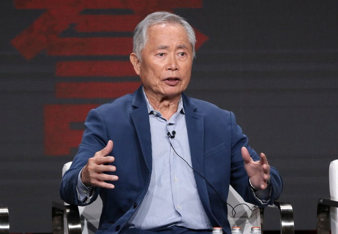 """George Takei participates in AMC's """"The Terror: Infamy"""" panel at the Television Critics Association Summer Press Tour on Thursday, July 25, 2019, in Beverly Hills, Calif."""