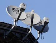 Dish Network satellite dishes.