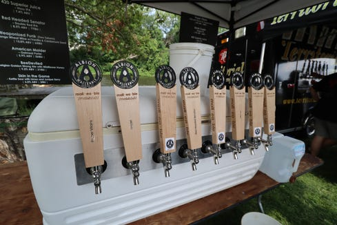 Albion Malleable Brewing Company's lineup of taps is focused on twists on Belgian ales.