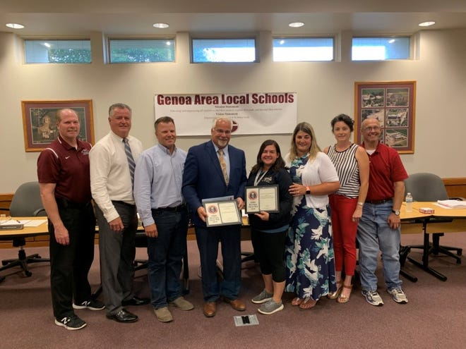 Genoa Bank and Ignite Coffee honored for local school collaboration.