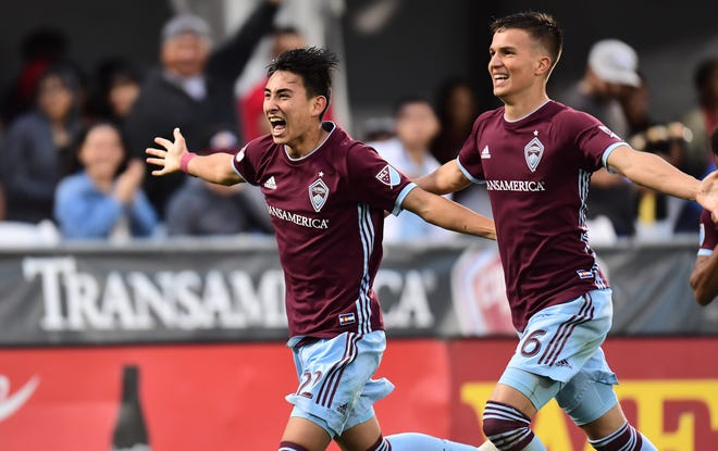 The Colorado Rapids play at San Jose on Saturday.