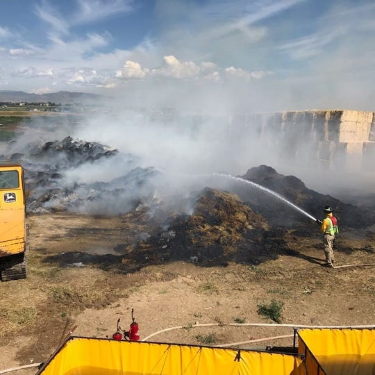 Smoke can be seen and smelled throughout Northern Colorado on Friday, July 26 because of a haystack fire in northeast Loveland.