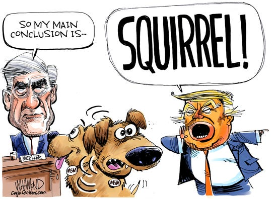 Trump distracts from Mueller