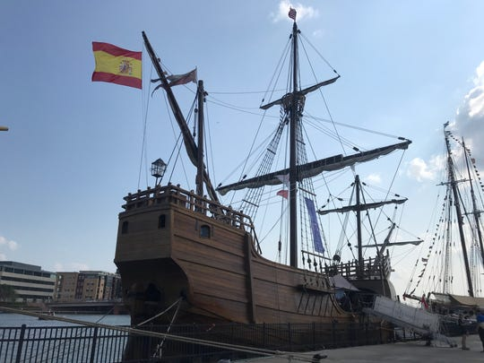 The Santa Maria is almost an exact replica of the 15th century vessel Christopher Columbus used on his first voyage to America.