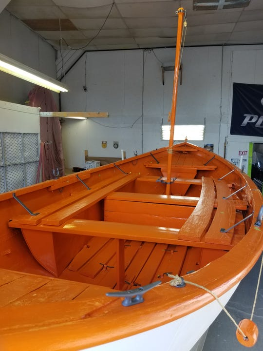 SS Milwaukee's lifeboat after restoration tweaks by Sturgeon Bay's Calibre Boat Repair.