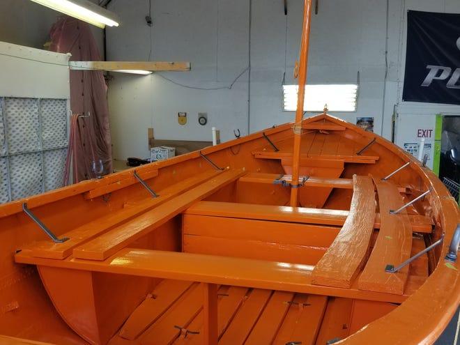 SS Milwaukee's lifeboat after restoration tweaks by Sturgeon Bay's Calibre Boat Repair.