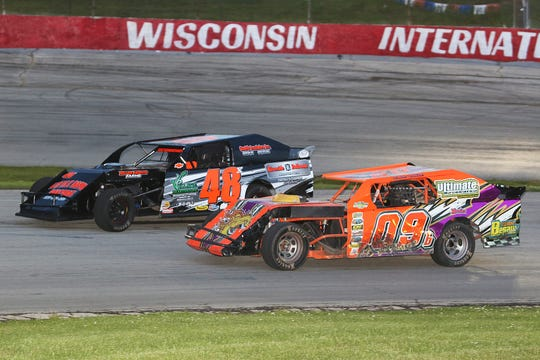 Oneida's R.W. Aschenbrenner (48) will be one of a handful of Wisconsin drivers heading north into Michigan for Norway Speedway's Pavement Pounder race Aug. 2.