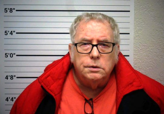 "FILE - This Dec. 13, 2018 file photo provided by the Custer County Sheriff's Office shows James ""Doc"" Jensen Jr. in Miles City, Mont. Federal prosecutors are recommending the former Montana high school athletic trainer accused of sexually abusing students for decades to be sentenced to 15 years in prison after pleading guilty to a federal charge of coercion and enticement. (Custer County Sheriff's Office via AP, File)"