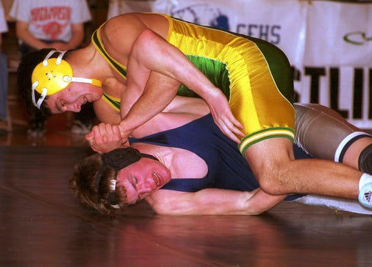 Danny Nisbet of CMR, here dominating an opponent in 2001, is now a Navy SEAL.